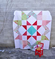 Lil Red Moda Love Quilt Top