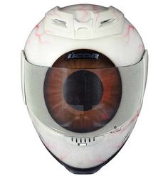 Eyeball Helmet - This would creep the hell outta me if I saw it on the road. I want one though.