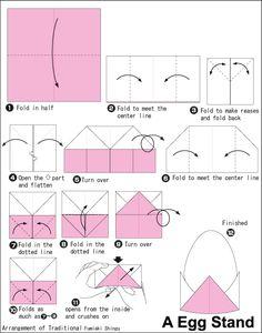 Origami Eierbecher Faltanleitung