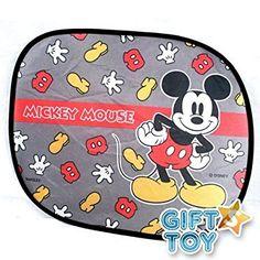 Pop Up Style PAIR Auto Car Truck SUV Vehicle Mickey Mouse Peeking Side Window Sunshade Disney