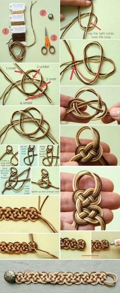 DID Ombre Celtic Knot Bracelet Jewelry How To Photo Tutorial | Above my head, but I hope you Enjoy! ~~https://www.pinterest.com/bonniebuchanan