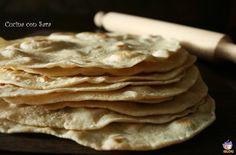 Piadina ricetta base, cucina con sara