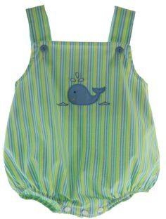 Hiccups Childrens Boutique - Baby Boys Summer Striped Summer Bubble Outfit with Whale, $42.00 (https://www.hiccupschildrensboutique.com/baby-boys-summer-striped-summer-bubble-outfit-with-whale/)