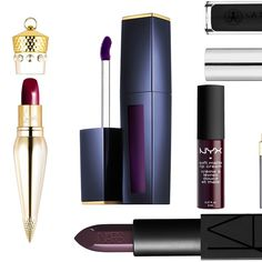 Inky plum, deep burgundy, and straight-up black lipsticks won't keep you warm, but they do look really hot.
