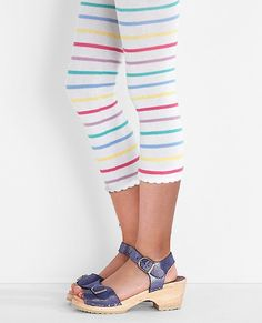 Fun Footless Capri Tights by Hanna Andersson