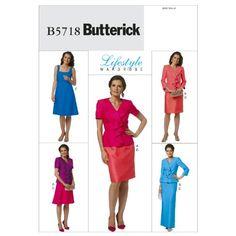 Butterick Patterns B5718 Misses' Jacket, Dress and Skirt, Size A5 (6-8-10-12-14) BUTTERICK PATTERNS http://www.amazon.com/dp/B0068T8S6U/ref=cm_sw_r_pi_dp_qzBowb1HV0EHP