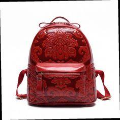 43.63$  Buy here - http://aliiyt.worldwells.pw/go.php?t=32736373986 - PU Leather Printing Backpack New Style Women Backpack School Bags for Teenagers Female Ladies Mochila Feminina BP0086