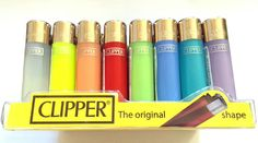 3 x MINI Small CLIPPER  CLEAR PASTEL COLOURS  Gas Refillable Lighter - See Thru