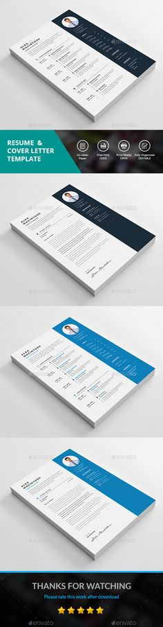 Clean Resume Brand Identity, Branding, Cv Cover Letter, Brochure Design Inspiration, Resume Cv, Professional Resume, Job Search, Brochures, Resume Templates