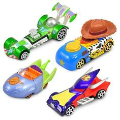 Disney Racers Toy Story Die Cast Car Set -- 4-Pc. by disney. $27.95. hard to find. great collectible. great gift. so cute. ships fast. It's full speed ahead for all your favorite Toy Story characters. This Disney Racers Toy Story Die Cast Car Set features Woody, Buzz Lightyear, Emperor Zurg and a Space Alien reimagined as colorfully customized cars. Product Details Created especially for Walt Disney World Resort and Disneyland Resort  Set Includes:    ?Woody ?Buzz Lightyea...