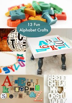 Spell it Out 13 Fun Alphabet Crafts