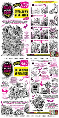 Here's a brand new tutorial: How to Think When You Overgrown an . Drawing Lessons, Drawing Techniques, Drawing Tips, Drawing Reference, Learn Drawing, Digital Painting Tutorials, Art Tutorials, Drawing Tutorials, Comic Drawing