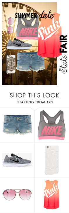 """""""State Fair"""" by liveliterary ❤ liked on Polyvore featuring True Religion, NIKE, JFR, Minnie Rose, statefair and summerdate"""