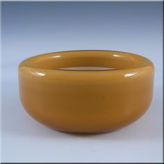 Holmegaard Amber Cased Glass Palet Bowl by Michael Bang - £17.99