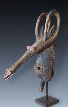 An adone / numtiri Antelope-Mask, tribe of the Kurumba, Burkina Faso