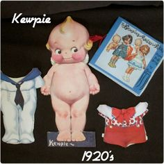 RARE Original Kewpie Ragsy & Ritzy Paper Doll Book Paper Doll Paper Doll House, Paper Dolls Book, Paper Toys, Paper Crafts, Vintage Dolls, Vintage Ads, Paper Doll Template, Art Folder, Happy Together