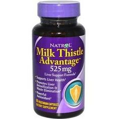 Vitamins supplements Natrol Milk Thistle Advantage Go natural with Natrol Natural Milk Thistle Advntg (1x). Milk Thistle Advantage 525 mg. Liver Support Formula. Supports Liver Health. Promotes Liver Detoxification & Waste Elimination. Powerful Antioxidant. Natrol Milk Thistle Advantage combines the power of milk thistle, standardized to 80% silymarin, along with supportive herbs. Silymarin, a flavonoid complex extracted from milk thistle seeds, supports the health of the liver and…
