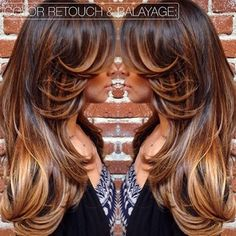 I wasn't a big fan of balayage when I first heard about it, but I'm really starting to like it now. It doesn't look like overgrown roots like it used to. I love this!
