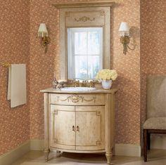Inspirational Bathroom Wallcovering Ideas byYork - Love the walls