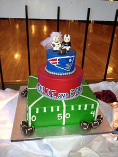 Patriots Wedding Cake!