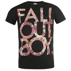 FALL OUT BOY T Shirt Floral OFFICIAL Music Merchandise