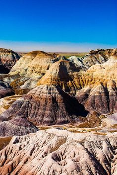 Painted Desert within the Petrified Forest National Park, Arizona; photo by David Waldo