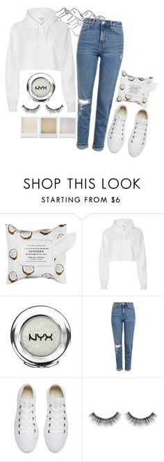 """""""by the riverside"""" by dreaming-wonderland ❤ liked on Polyvore featuring Sephora Collection, River Island, NYX, Topshop, Converse and Holga"""