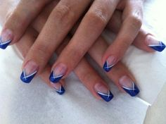 Gel uv bleu - for hair nails Ongles Gel French, French Tip Nails, Gel Nail Polish, Gel Nails, Manicure, Beautiful Boys, Fall Nail Trends, Deco Blue, Summer Acrylic Nails