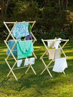Wooden clothes drying racks are sturdy, with smooth birch dowels that will not snag on hosiery. Wood laundry drying racks are lightweight and fold easily for storage Wooden Clothes Drying Rack, Drying Rack Laundry, Cleaning Gloves, Laundry Room Remodel, Diy Storage, Housekeeping, Outdoor Chairs, Outdoor Furniture, Household