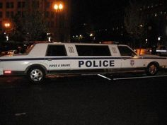 Police limo, this is funny...