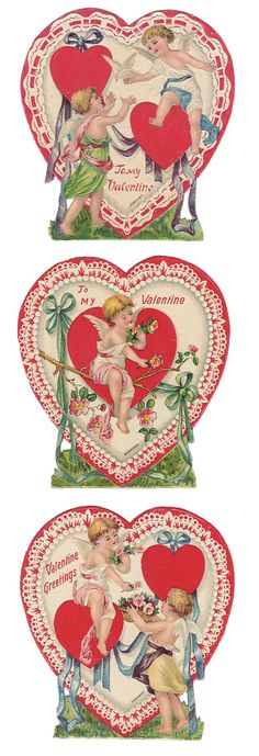 1930s German valentine set.