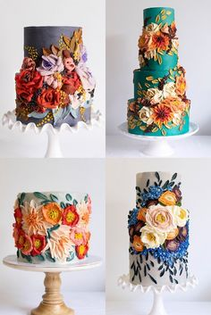 40 Wedding Cakes by 10 Bloom Cakes - Oh The Wedding Day Is Coming Wedding Cake Rustic, Cool Wedding Cakes, Wedding Cake Designs, Wedding Cake Toppers, Gold Wedding, Fancy Cakes, Cute Cakes, Pretty Cakes, Beautiful Cakes