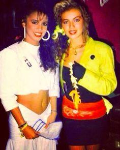 Con Thalía, quien también fue integrante de Timbiriche.