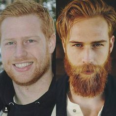 Beard or no beard? (I say beard I will pretty much always say beard ) by lookatdatfade Beard Or No Beard, Red Beard, Beard Love, Beard No Mustache, Full Beard, Mens Hairstyles With Beard, Face Shape Hairstyles, Ginger Men, Ginger Beard