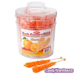 Just found Rock Candy Crystal Sticks - Orange: 36-Piece Tub @CandyWarehouse, Thanks for the #CandyAssist!