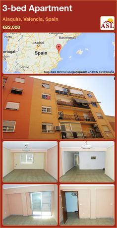3-bed Apartment in Alaquàs, Valencia, Spain ►€82,000 #PropertyForSaleInSpain
