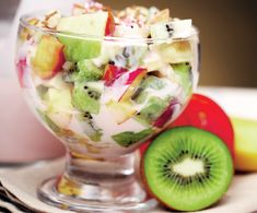 Kiwi, Fruit Salad, Low Carb, Desserts, Martha Stewart, Food, Banana, Tailgate Desserts, Fruit Salads