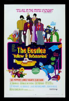 Yellow Submarine Beatles Movie Posters Film Posters Cinema Posters ...