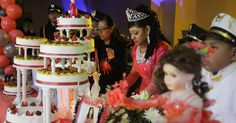 The evolution of the quinceañera, an increasingly elaborate affair, celebrated when a girl turns reflects the changing landscape of Latinos in the United States. A great topic for discussion! Teaching Culture, Spanish Holidays, Rite Of Passage, Affair, Celebration, United States, Landscape, Diversity, Social Studies