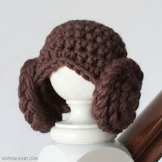 Princess Leia Inspired Crochet Beanie