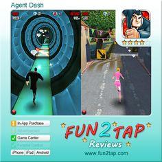 Agent Dash - Dashing Espionage Run. Full review at: http://fun2tap.com/index.cfm#id2292 --------------------------------------------- #apps #iosApps #iPad #iPhone #games