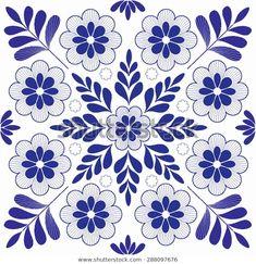 Vector Mexicanos Beautiful hungarian folk art motif - buy this stock vector on Shutterstock & fin. Cushion Embroidery, Floral Embroidery Patterns, Embroidery Motifs, Hand Embroidery Designs, Quilt Patterns, Motif Vector, Mundo Hippie, Bordado Popular, Illustration Noel