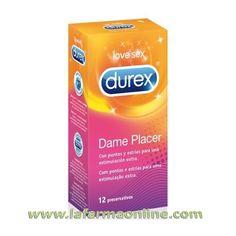 PRESERVATIVOS DAME PLACER 12 UNIDADES DUREX  Durex Dame Placer son preservativos que suben la temperatura entre las sábanas. Sus puntos y estrías crean una experiencia sexual más intensa para ti y tu pareja.