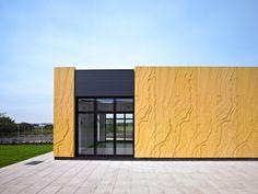 Concrete panel detail Gowkthrapple by Collective Architecture