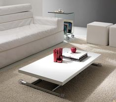 Table basse relevable et transformable loft meuble - Table basse relevable transformable ...