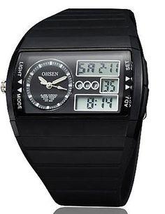 Herren Armbanduhr Schwarz Runde Zifferblatt Silikon Band Japan Movement Fashion Tauchen Sport Uhr Armbanduhr (verschiedene Farben), weiß - http://uhr.haus/oofay/herren-armbanduhr-schwarz-runde-zifferblatt-uhr-5