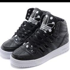 super popular ec5dd 9b46f adidas Shoes | {Adidas} Attitude Originals Logo Hi Top Polka Dot | Color: