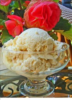 Jon s Sugar free French Vanilla Ice Cream from Food.com:   								We love ice cream for a snack or to make a shake in the evening. My DH came up with this recipe so that we could have a sugar free ice cream. Hope you enjoy it.