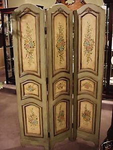 Antique French Aubusson Tapestry 3 Panel Room Divider Panel room