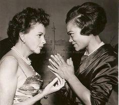 Two great legends! Judy Garland and Ertha Kitt